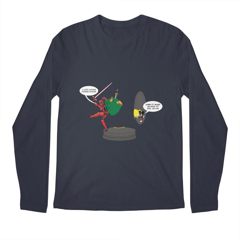 Deadpool at Disney! Men's Longsleeve T-Shirt by zhephskyre's Artist Shop