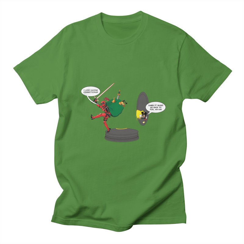 Deadpool at Disney! Men's Regular T-Shirt by zhephskyre's Artist Shop