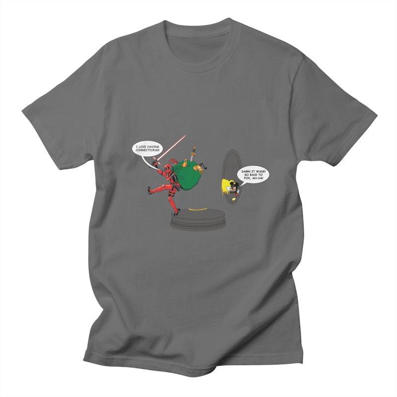 Deadpool at Disney! Men's T-Shirt by Zheph Skyre