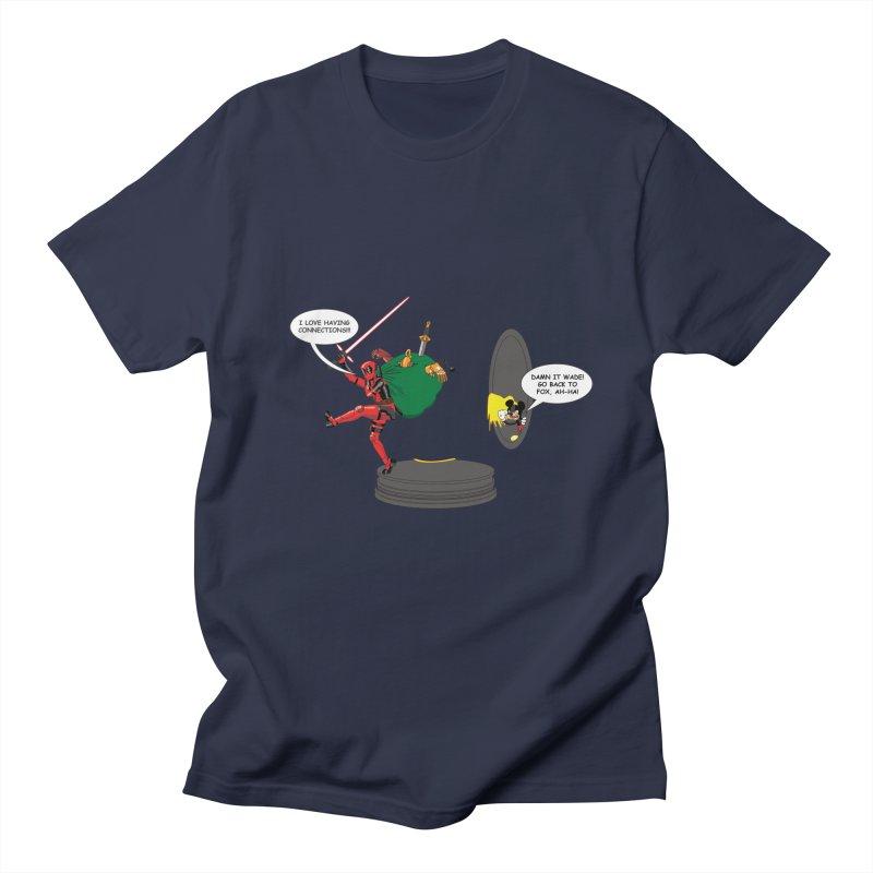 Deadpool at Disney! Men's T-Shirt by zhephskyre's Artist Shop