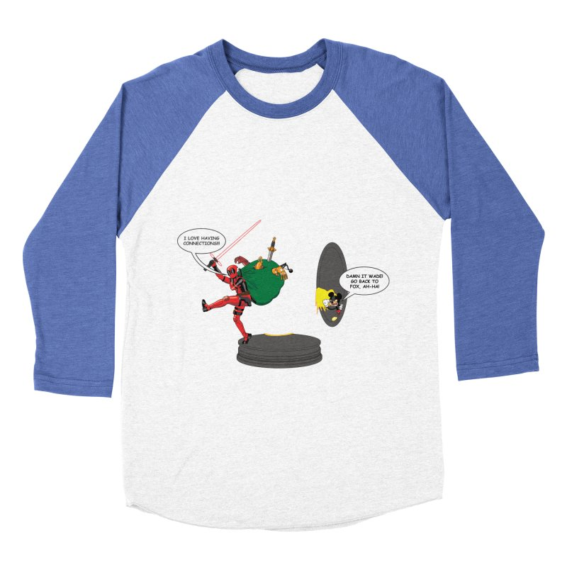 Deadpool at Disney! Women's Baseball Triblend Longsleeve T-Shirt by zhephskyre's Artist Shop