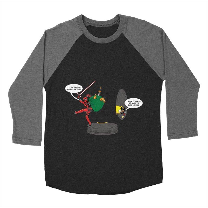Deadpool at Disney! Women's Baseball Triblend Longsleeve T-Shirt by zhephskyre's Artist Shop