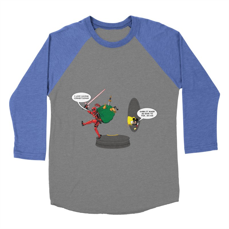 Deadpool at Disney! Men's Baseball Triblend Longsleeve T-Shirt by zhephskyre's Artist Shop