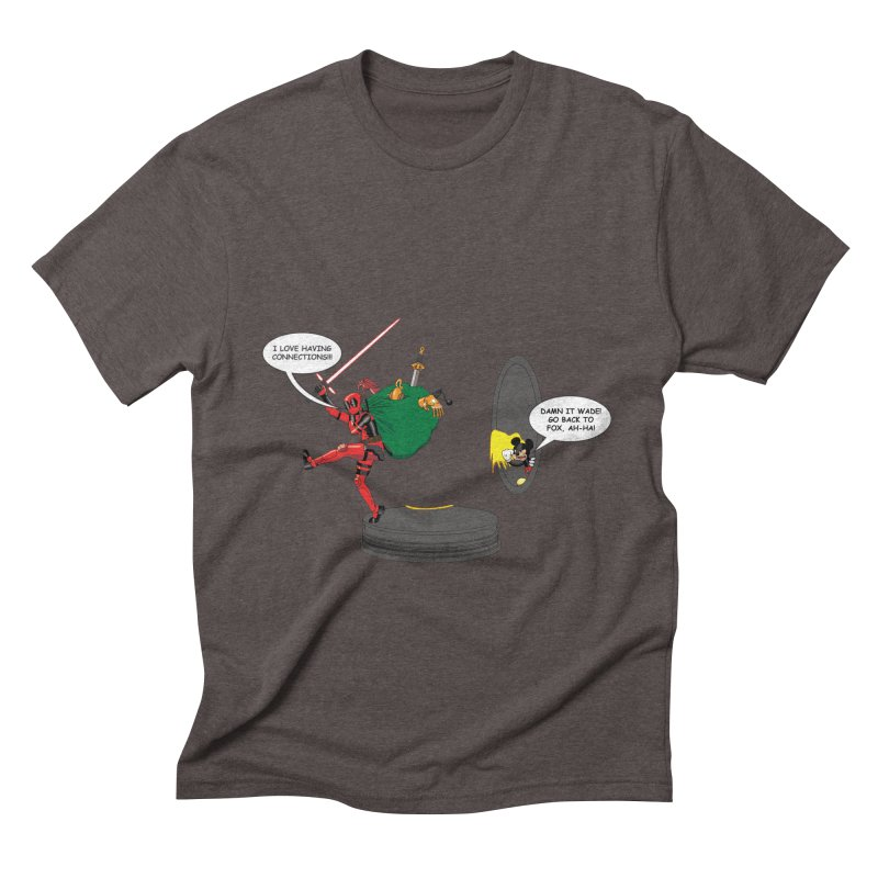 Deadpool at Disney! Men's Triblend T-shirt by zhephskyre's Artist Shop