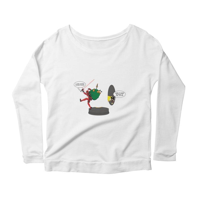 Deadpool at Disney! Women's Scoop Neck Longsleeve T-Shirt by zhephskyre's Artist Shop
