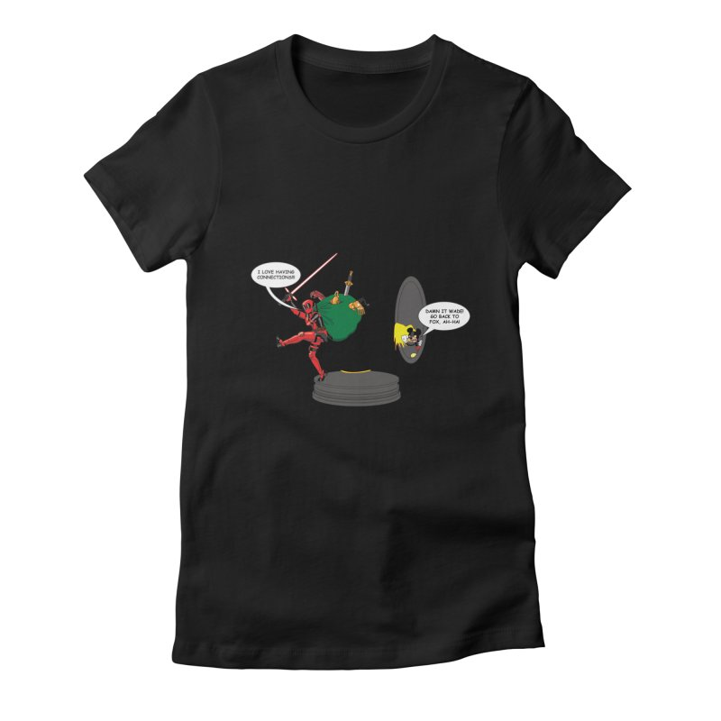 Deadpool at Disney! Women's Fitted T-Shirt by zhephskyre's Artist Shop