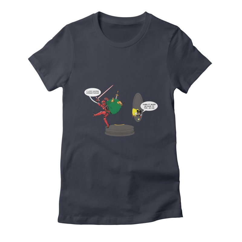 Deadpool at Disney! Women's Fitted T-Shirt by Zheph Skyre