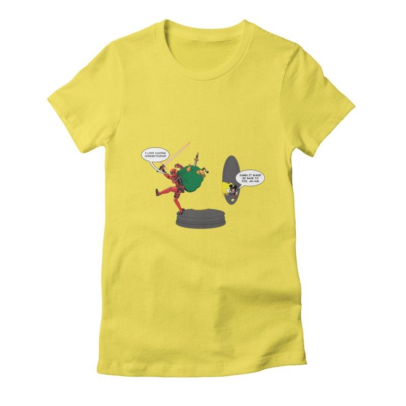 Deadpool at Disney! Women's Fitted T-Shirt by zhephskyre's Artist Shop