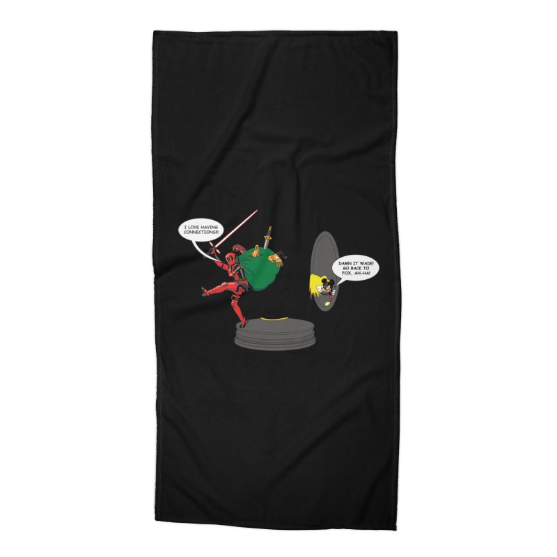 Deadpool at Disney! Accessories Beach Towel by zhephskyre's Artist Shop