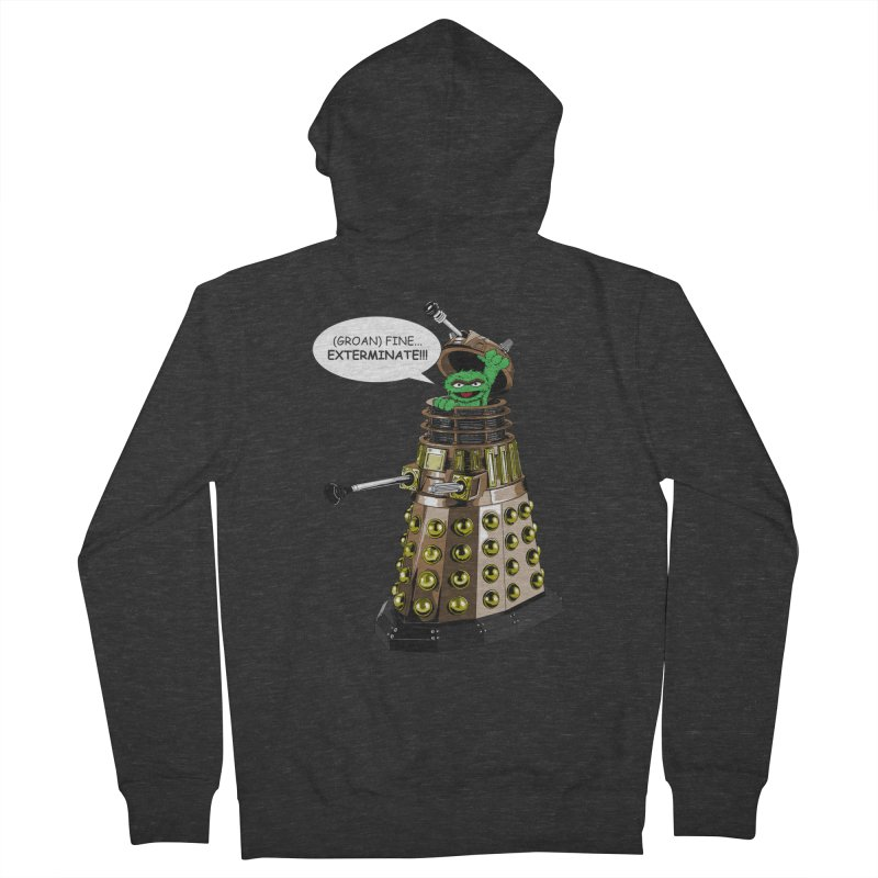 Oscar the Dalek Women's French Terry Zip-Up Hoody by zhephskyre's Artist Shop