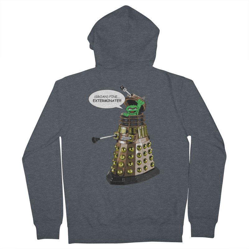 Oscar the Dalek Women's French Terry Zip-Up Hoody by Zheph Skyre