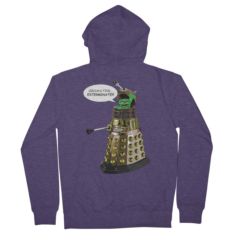 Oscar the Dalek Men's French Terry Zip-Up Hoody by zhephskyre's Artist Shop