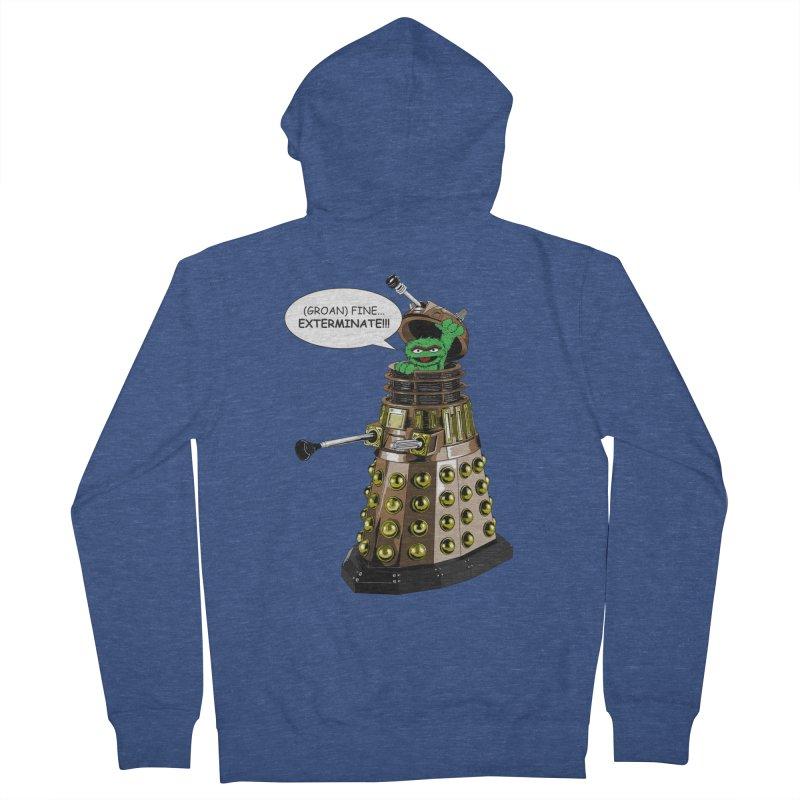 Oscar the Dalek Men's French Terry Zip-Up Hoody by zhephskyre's Artist Shop