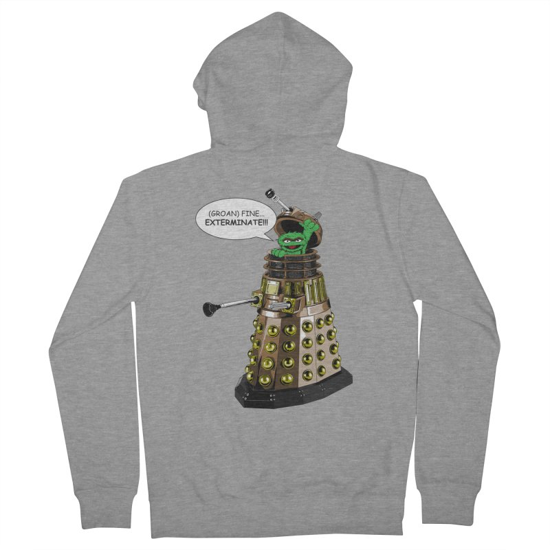 Oscar the Dalek Men's French Terry Zip-Up Hoody by Zheph Skyre