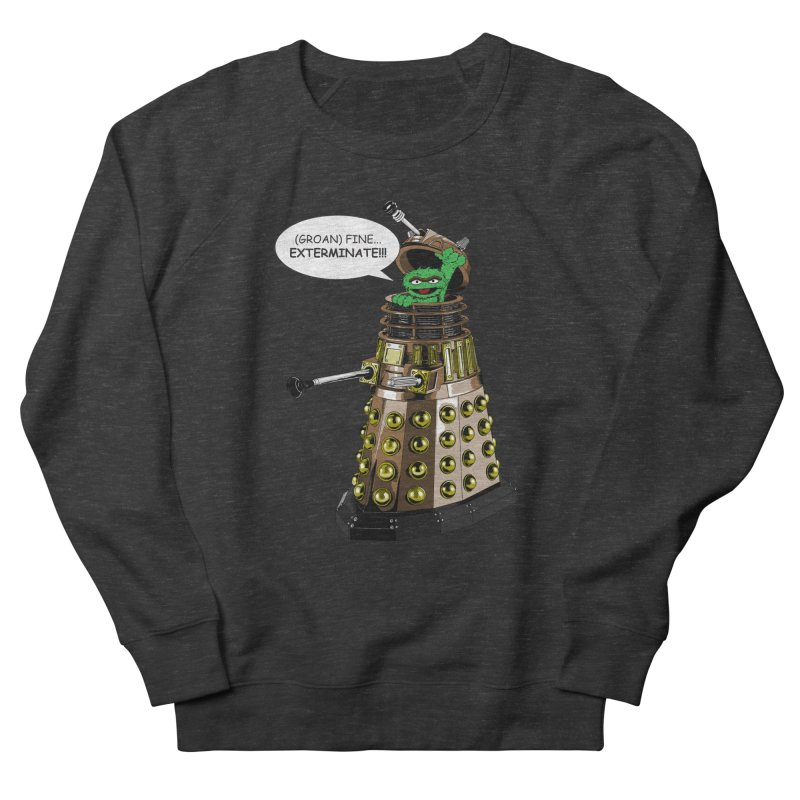 Oscar the Dalek Men's French Terry Sweatshirt by Zheph Skyre