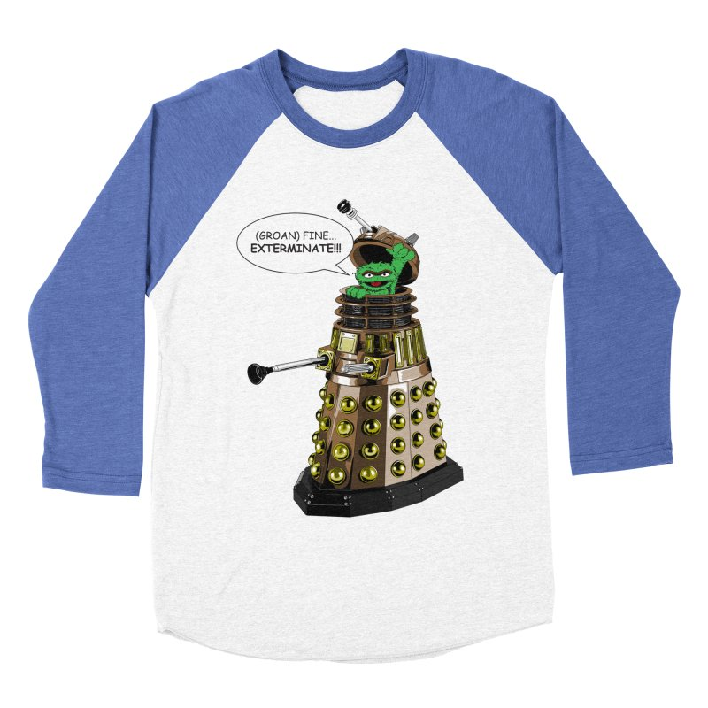 Oscar the Dalek Women's Baseball Triblend Longsleeve T-Shirt by zhephskyre's Artist Shop
