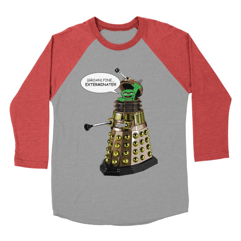 Oscar the Dalek Women's Baseball Triblend T-Shirt by zhephskyre's Artist Shop
