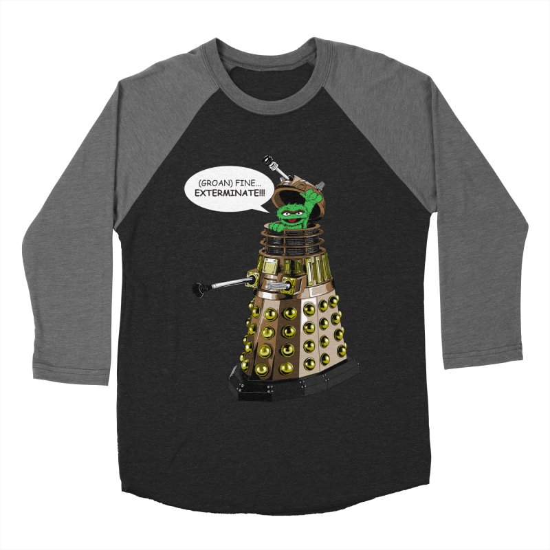 Oscar the Dalek Men's Baseball Triblend Longsleeve T-Shirt by zhephskyre's Artist Shop
