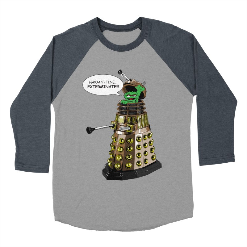 Oscar the Dalek Men's Baseball Triblend T-Shirt by zhephskyre's Artist Shop