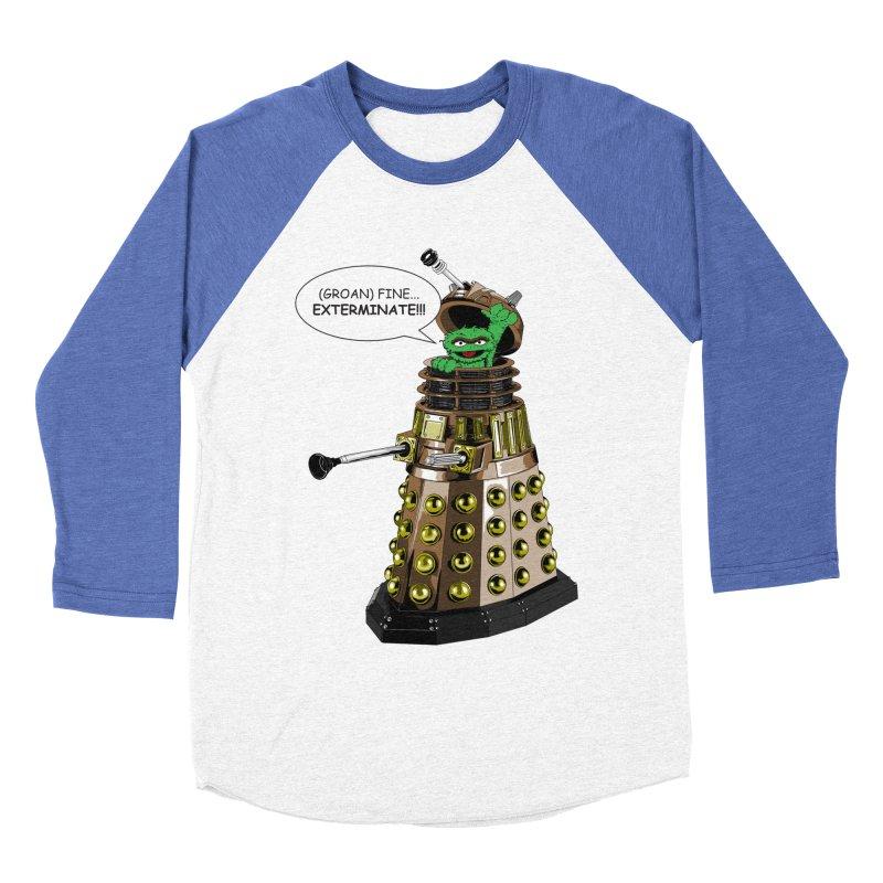 Oscar the Dalek Men's Baseball Triblend Longsleeve T-Shirt by Zheph Skyre