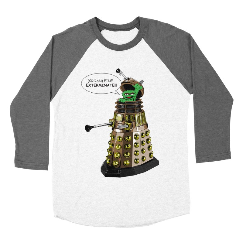 Oscar the Dalek Men's Baseball Triblend T-Shirt by zhephskyre's Artist Shop
