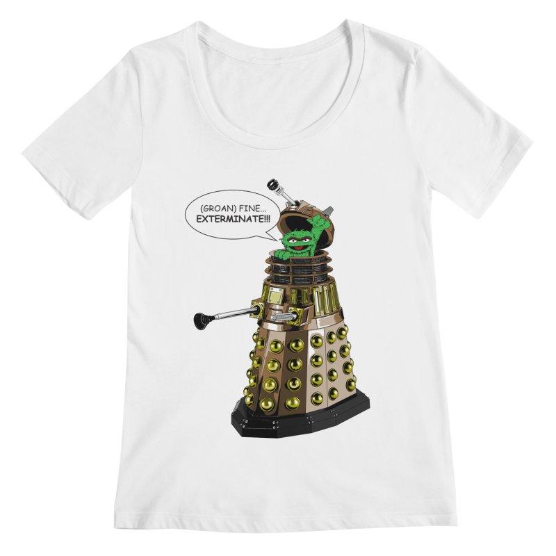 Oscar the Dalek Women's Regular Scoop Neck by zhephskyre's Artist Shop