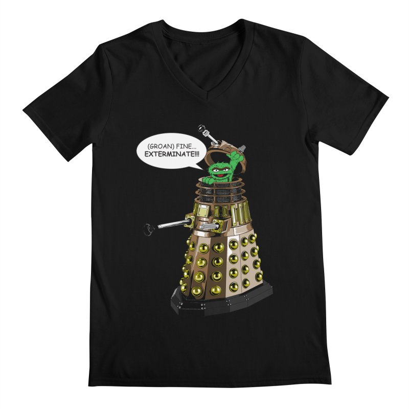 Oscar the Dalek Men's V-Neck by zhephskyre's Artist Shop