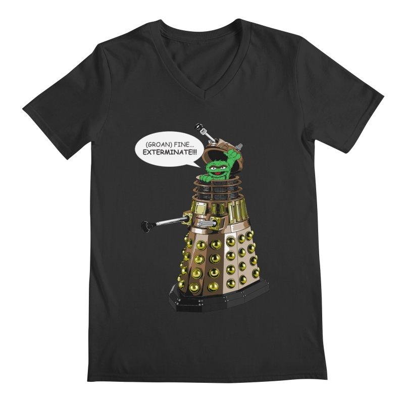 Oscar the Dalek Men's Regular V-Neck by Zheph Skyre