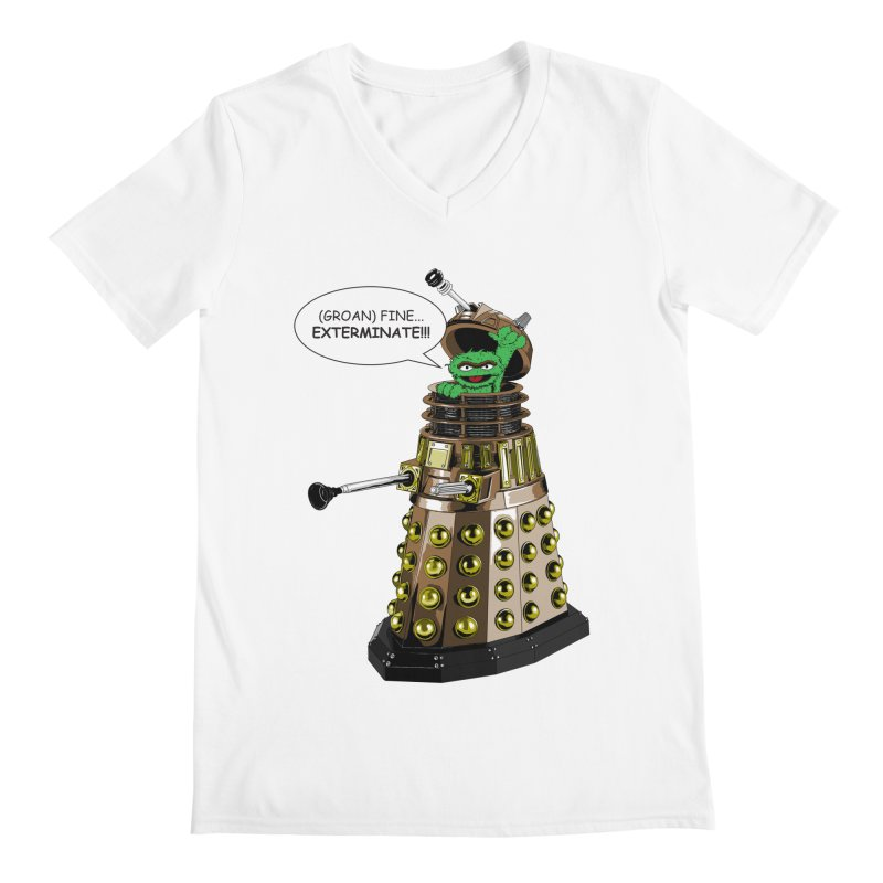 Oscar the Dalek Men's Regular V-Neck by Zheph Skyre