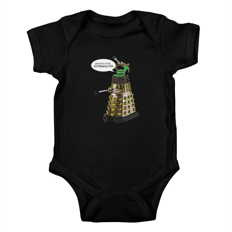 Oscar the Dalek Kids Baby Bodysuit by zhephskyre's Artist Shop