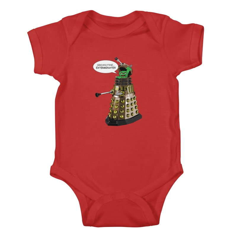 Oscar the Dalek Kids Baby Bodysuit by Zheph Skyre
