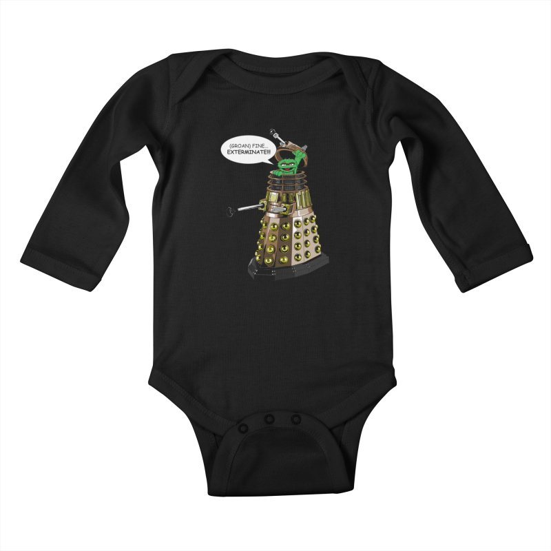 Oscar the Dalek Kids Baby Longsleeve Bodysuit by zhephskyre's Artist Shop