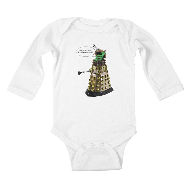 Oscar the Dalek Kids Baby Longsleeve Bodysuit by zhephskyre's Artist Shop