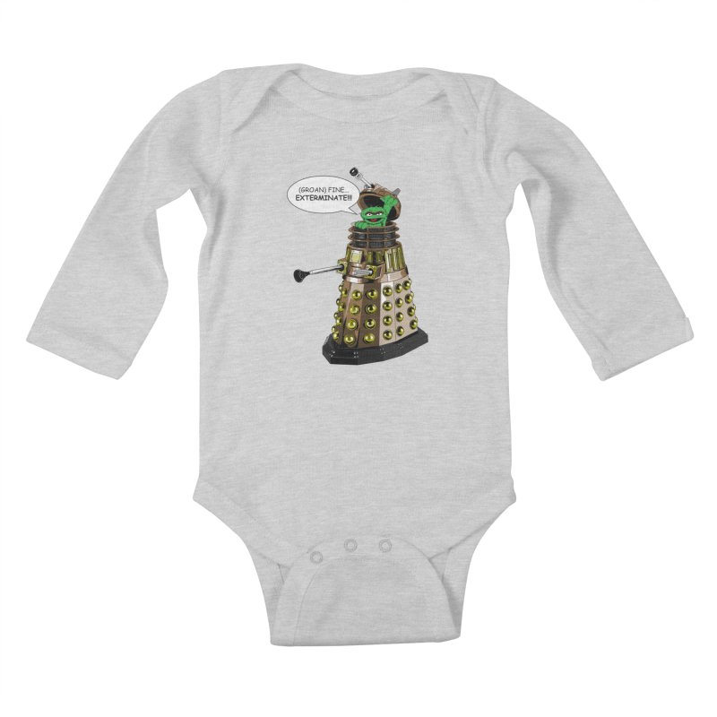 Oscar the Dalek Kids Baby Longsleeve Bodysuit by Zheph Skyre