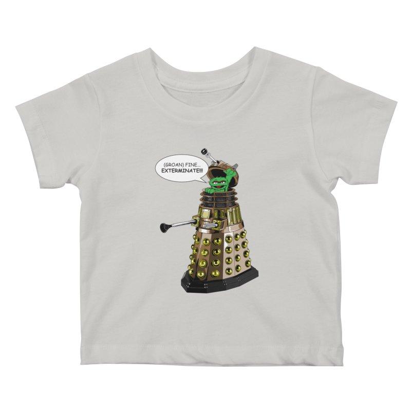 Oscar the Dalek Kids Baby T-Shirt by zhephskyre's Artist Shop