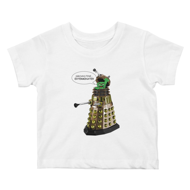 Oscar the Dalek Kids Baby T-Shirt by Zheph Skyre