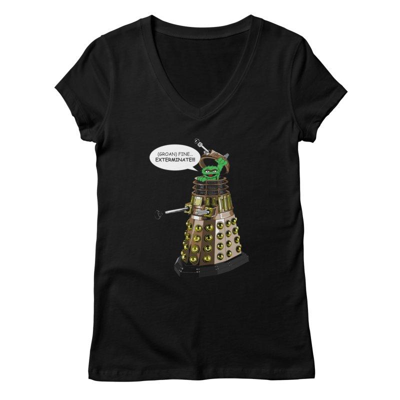 Oscar the Dalek Women's V-Neck by Zheph Skyre