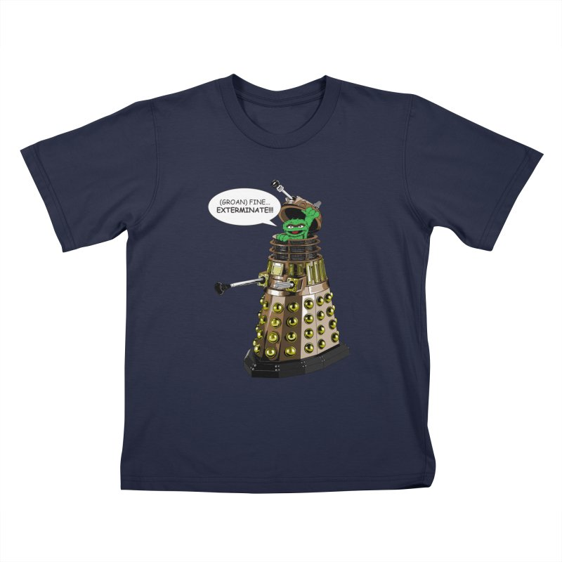 Oscar the Dalek Kids T-Shirt by Zheph Skyre