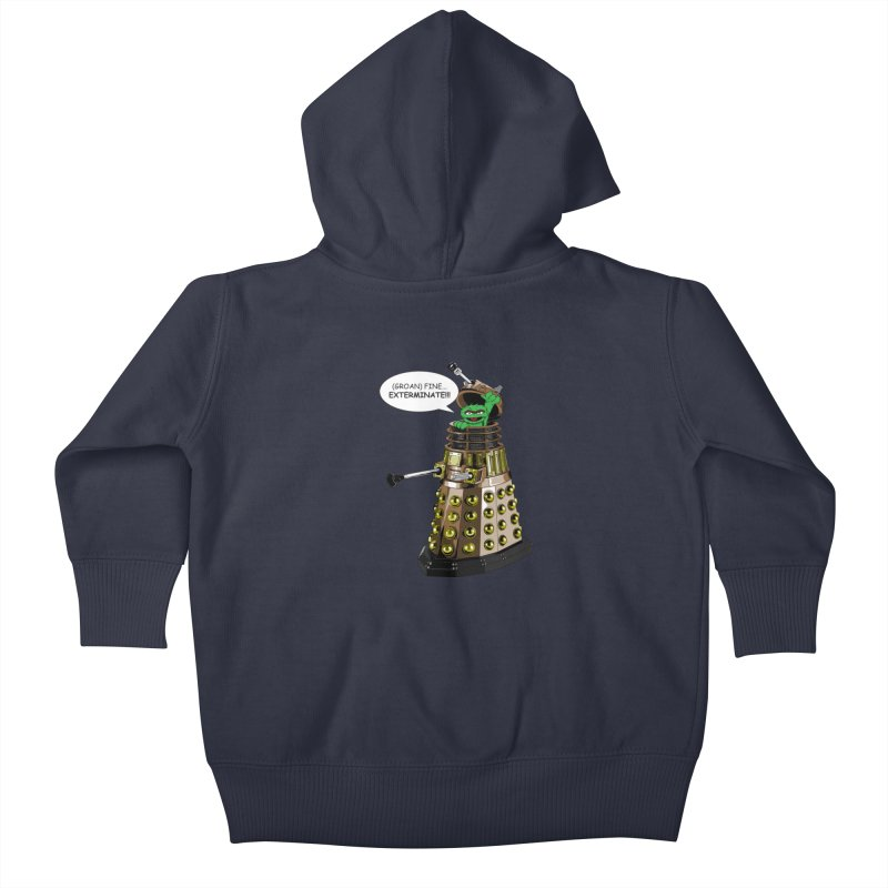Oscar the Dalek Kids Baby Zip-Up Hoody by zhephskyre's Artist Shop