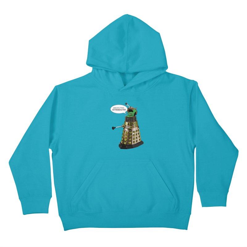 Oscar the Dalek Kids Pullover Hoody by zhephskyre's Artist Shop