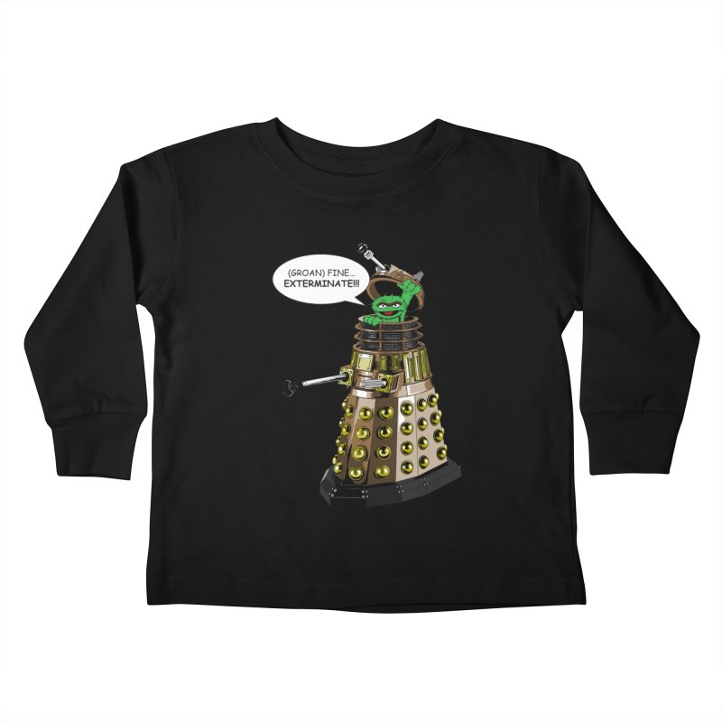 Oscar the Dalek Kids Toddler Longsleeve T-Shirt by Zheph Skyre