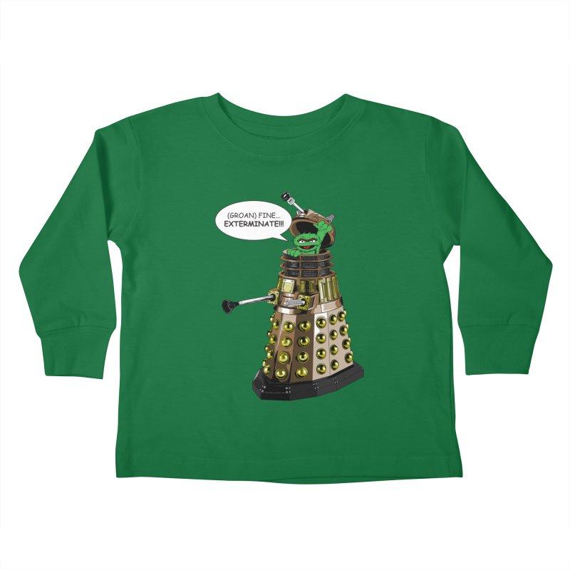 Oscar the Dalek Kids Toddler Longsleeve T-Shirt by zhephskyre's Artist Shop