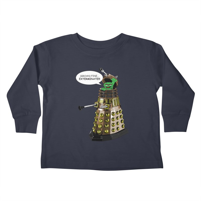Oscar the Dalek Kids Toddler Longsleeve T-Shirt by zhephskyre's Artist Shop