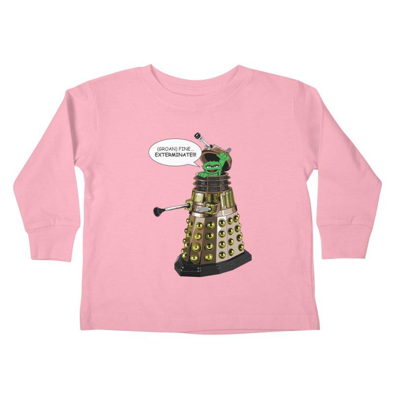 Oscar the Dalek Kids Toddler Longsleeve T-Shirt by Zheph Skyre