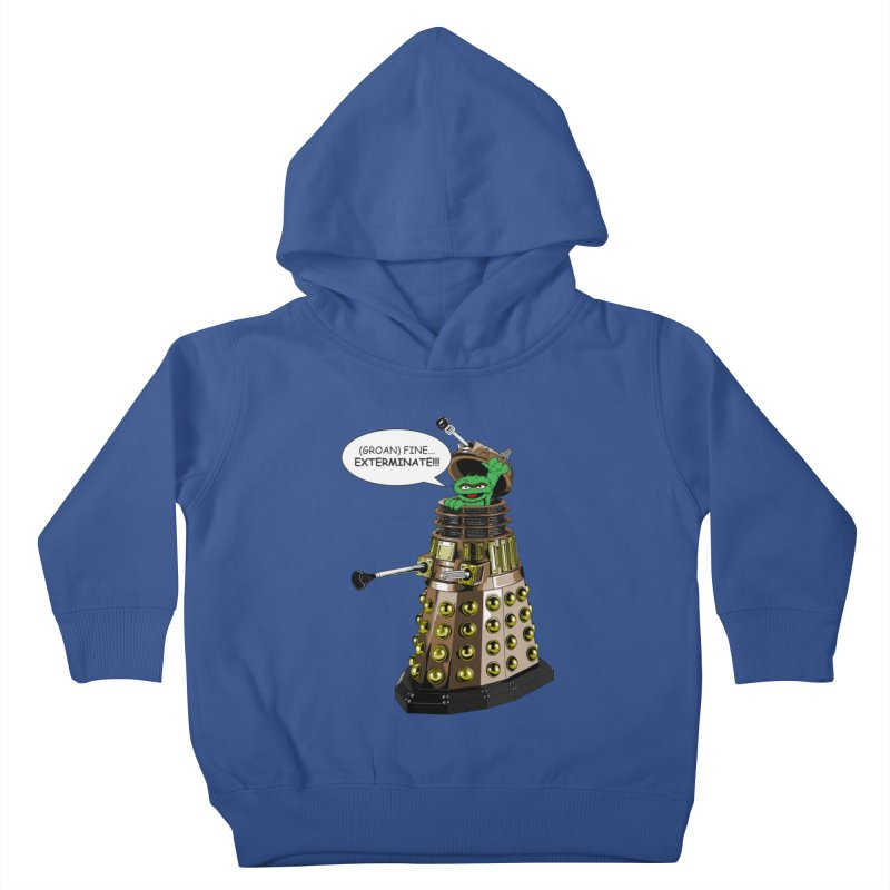 Oscar the Dalek Kids Toddler Pullover Hoody by Zheph Skyre