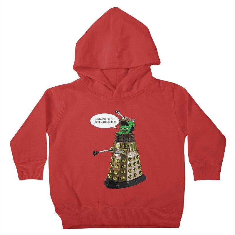 Oscar the Dalek Kids Toddler Pullover Hoody by zhephskyre's Artist Shop