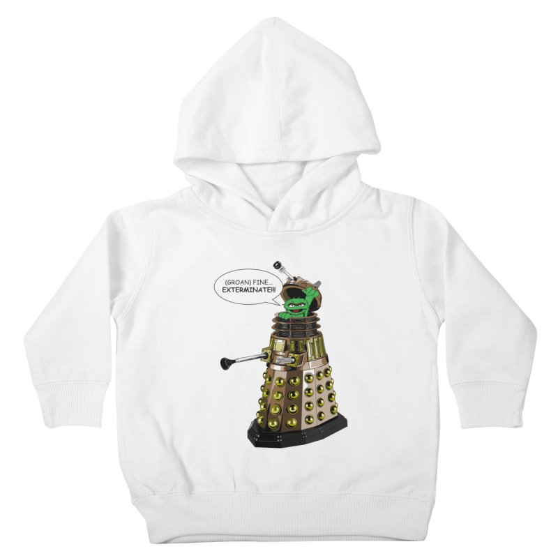 Oscar the Dalek Kids Toddler Pullover Hoody by zhephskyre's Artist Shop