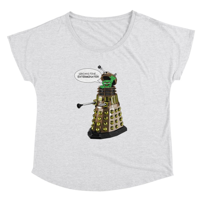 Oscar the Dalek Women's Dolman Scoop Neck by zhephskyre's Artist Shop