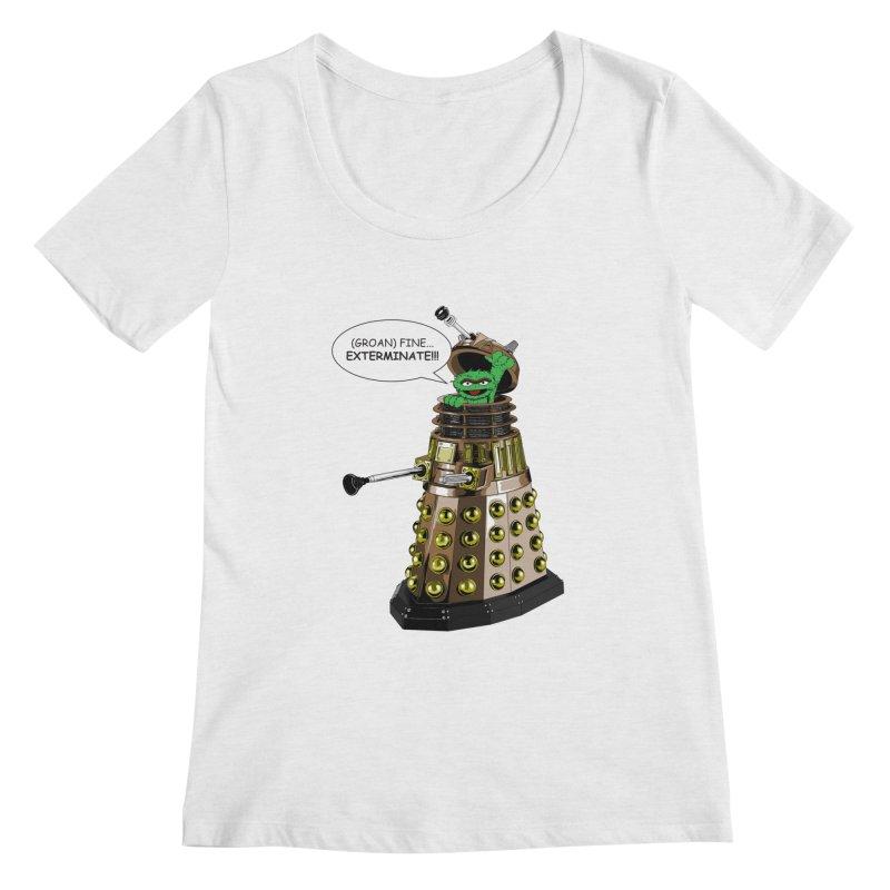 Oscar the Dalek Women's Regular Scoop Neck by Zheph Skyre