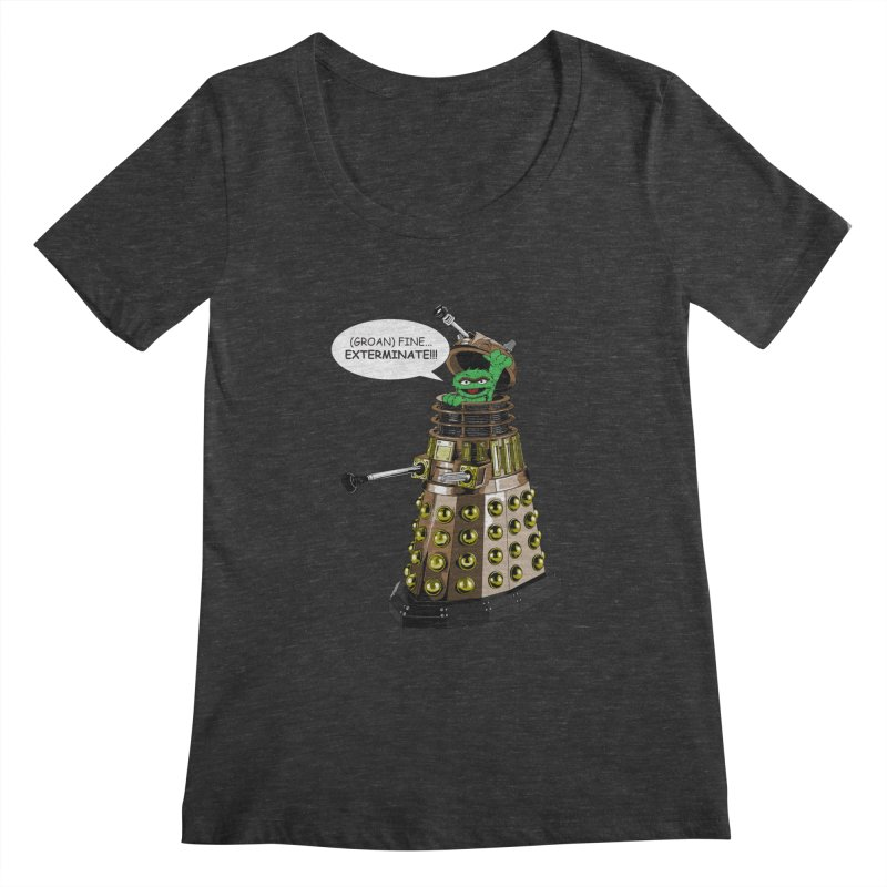 Oscar the Dalek Women's Scoopneck by zhephskyre's Artist Shop